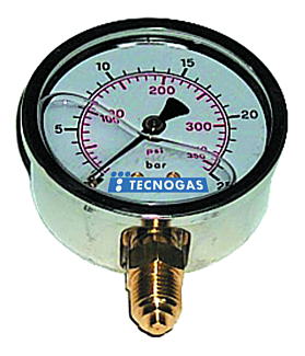 Tecnogas Manometer 0-1 bar 1/2""
